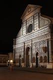 圣玛丽亚中篇小说教会在夜之前 免版税库存照片