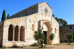 圣玛丽亚修道院在Cerrate,莱切,意大利 库存照片