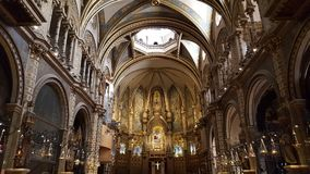 圣玛丽亚在巴塞罗那附近的de Mountserrat 免版税库存图片