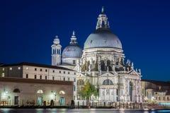 圣玛丽亚在晚上被阐明的della致敬 免版税图库摄影