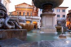 圣玛丽亚在Trastevere,罗马,意大利 免版税库存图片