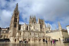 圣玛丽亚大教堂在布尔戈斯,西班牙 免版税库存照片
