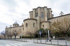圣玛丽亚大教堂在索尔索纳,西班牙 免版税库存图片