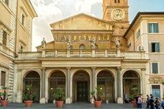 圣玛丽亚大教堂在Trastevere,罗马 库存照片
