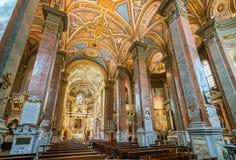 圣玛丽亚小山谷`生命教会,在罗马,意大利 库存照片