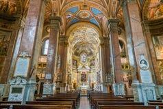 圣玛丽亚小山谷`生命教会,在罗马,意大利 库存图片