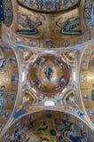 圣玛丽亚小山谷` Ammiraglio著名教会的上升限度在巴勒莫 库存照片