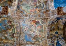 圣玛丽亚小山谷` Ammiraglio著名教会的上升限度在巴勒莫 免版税库存图片