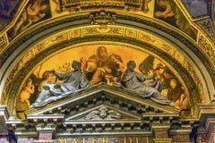 绘圣玛丽亚德拉步幅教会大教堂罗马意大利的上帝 免版税图库摄影