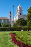 圣玛丽亚教会看法通过帝国s庭院  库存图片