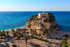 圣玛丽亚海岛-特罗佩亚,卡拉布里亚,意大利 免版税图库摄影
