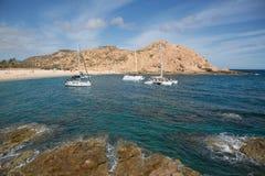 圣玛丽亚海湾, Cabo圣卢卡斯 免版税库存照片