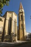 圣玛丽亚,阿雷佐,托斯卡纳,意大利教会  免版税库存照片