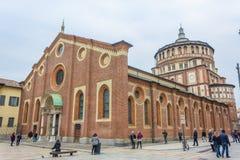 圣玛丽亚代勒Grazie教会 库存照片