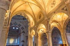 圣玛丽亚代勒Grazie教堂中殿 库存图片