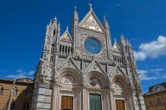 圣玛丽亚Assunta大教堂在锡耶纳,意大利 做在1215之间 图库摄影