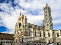 圣玛丽亚Assunta大教堂在锡耶纳 图库摄影