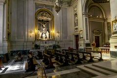 圣玛丽亚Assunta大教堂的内部的看法  免版税库存图片