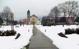 圣玛丽亚Assunta教会, Giubiasco,瑞士 免版税库存图片