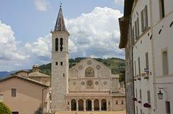 圣玛丽亚Assunta, Spoleto,意大利大教堂  免版税库存图片