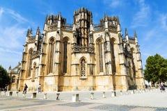 圣玛丽亚da Vitoria修道院在Batalha,葡萄牙 免版税库存图片