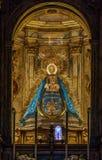 圣玛丽亚de la亚松森,卡尔莫纳,西班牙教会  免版税库存图片
