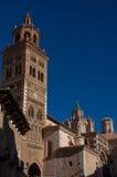 圣玛丽亚de Mediavilla 13世纪, T Mudejar大教堂  图库摄影