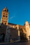 圣玛丽亚de Mediavilla 13世纪, T Mudejar大教堂  库存图片