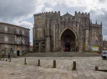圣玛丽亚de Tui大教堂  库存照片