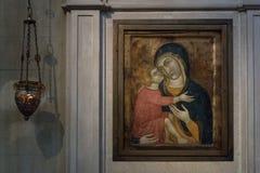圣玛丽亚de Valldonzella修道院,象 图库摄影