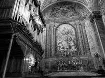 圣玛丽亚degli Angeli e dei的Martiri风琴师 图库摄影