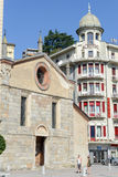 圣玛丽亚degli Angioli教会在卢加诺 库存图片