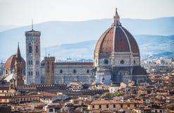 圣玛丽亚dei Fiori教会,市圆顶佛罗伦萨,托斯卡纳,意大利 库存图片
