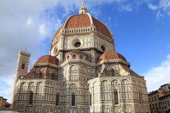 圣玛丽亚del菲奥雷,佛罗伦萨,意大利大教堂  库存照片