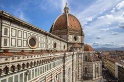圣玛丽亚del菲奥雷,佛罗伦萨,意大利大教堂  库存图片