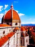圣玛丽亚del菲奥雷,佛罗伦萨-意大利-欧洲圆顶  免版税库存图片