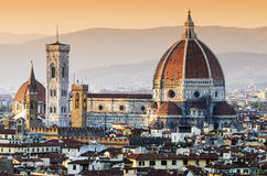 圣玛丽亚del黄昏的菲奥雷Dome,佛罗伦萨大教堂  库存图片