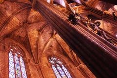 圣玛丽亚Del Mar大教堂在巴塞罗那 免版税库存照片