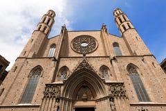 圣玛丽亚Del Mar -巴塞罗那西班牙 库存照片