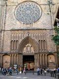 圣玛丽亚del Pi大教堂在巴塞罗那,西班牙 免版税图库摄影