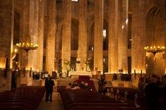 圣玛丽亚del Pi的内部 免版税库存图片