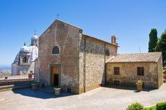 圣玛丽亚della尼夫教会。蒙泰菲亚斯科内。拉齐奥。意大利。 免版税库存照片