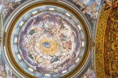 圣玛丽亚della帕尔马Steccata圣所,在一点红罗马 库存照片