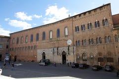 圣玛丽亚della斯卡拉,锡耶纳,意大利古老医院  库存照片