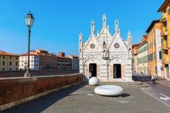 圣玛丽亚della斯皮纳在比萨,意大利 库存照片
