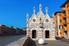 圣玛丽亚della斯皮纳在比萨,意大利 库存图片