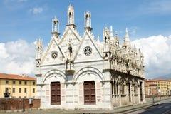 圣玛丽亚della斯皮纳教会在比萨 库存图片