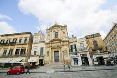 圣玛丽亚della格拉齐亚教会在莱切,普利亚,意大利 库存照片