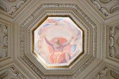 圣玛丽亚della步幅圆顶的细节  免版税库存图片