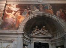 圣玛丽亚della步幅教会,罗马,意大利 免版税库存图片